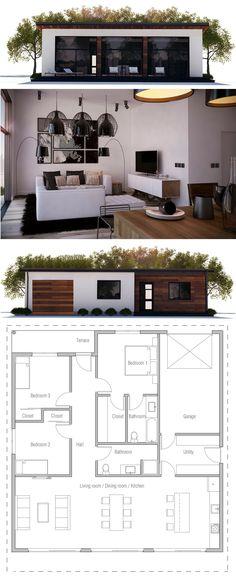 Small House Plan, Single story home plan