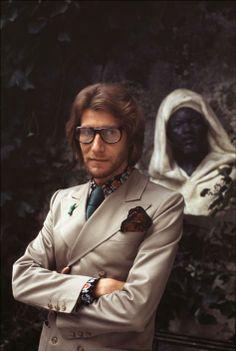 * Yves SAINT LAURENT Paris. 1971 photo Bruno Barbey