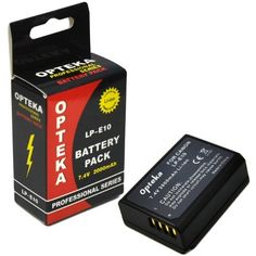 Opteka LP-E10 2000mAh Ultra High Capacity Li-ion Battery Pack for Canon EOS Rebel T3 (1100D) by Opteka. $12.95. The high-capacity Opteka LP-E10 rechargeable lithium-ion 2000mAh battery is a replacement for Canon LP-E10 Battery. It features lithium technology, which ensures maximum battery life and maximum power. It also features no memory effect that lets you recharge partially drained batteries without reducing performance. Beware of low quality knockoffs on e...