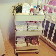 ベビーベット/IKEA/赤ちゃん/北欧/ベビー用品/ワゴン…などのインテリア実例 - 2015-09-11 16:48:21   RoomClip(ルームクリップ)
