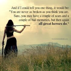 Lessons Learned in Life | All great heroes do.