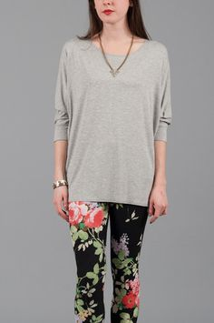 Haas Dolman Tee in Heather #sale #goingfast