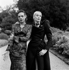 Mick Jagger and Jerry Hall, Château de La Fourchette, France, 1996. PHOTOGRAPH BY BRIGITTE LACOMBE.