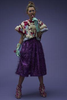 FLESH - Kimmie and Malin Take New York // AW // Photographer : Oktawian Górnik // Photo assistant : Tymoteusz Tymek // MUA + hair : Marte Oestensen // Assistant : Mona Moore // Model : Sofia Heggelund Taking New York, Aw 17, Lace Skirt, Photo And Video, Skirts, Model, Hair, Inspiration, Clothes