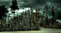 The Hill of Crosses, Lithuania #travel #Europe #Lithuania