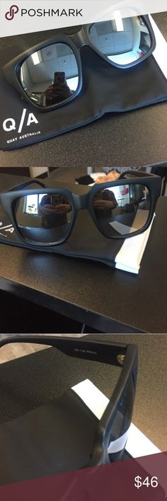 Quay Australia on the prowl Sunnies Quay Australia on the prowl Sunnies. New. Never worn. Still on package. Soft case included. Mirrored Quay Australia Accessories Sunglasses