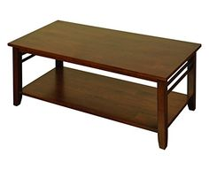 Hawaii Dark Solid Hardwood Coffee Table With Under Shelf ... Https://