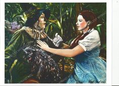 Dorothy and the Scarecrow Print by Artist Vincent Myrand by VincentMyrandArt on Etsy Wizard Of Oz, Unique Jewelry, Handmade Gifts, Artist, Etsy, Vintage, Birthday Ideas, Paintings, Style