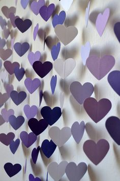 DIY Heart Mobile Kit - Lilac Dreams Wall Hanging / Baby Shower / Wedding Decor / Baby Mobile / Birthday Gift / Party Decor / Photo Prop on Etsy, Purple Wall Decor, Purple Walls, Wedding Reception, Our Wedding, Dream Wedding, Wedding Ideas, Trendy Wedding, Unique Weddings, Deco Violet