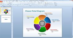 editable petal powerpoint diagram template for #PowerPoint presentations #free