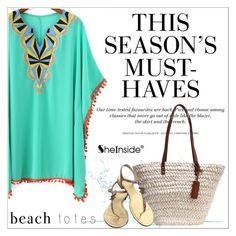 """""""In the Bag: Beach Totes"""" by aurora-australis on Polyvore featuring H&M, Chanel, Sheinside and beachtotes"""