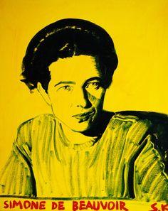 Cob, Oil On Canvas, Paintings, Illustrations, Gallery, Simone De Beauvoir, Feminism, Icons, Needlepoint