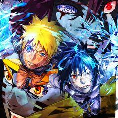 Naruto Uzumaki and Sasuke Uchiha and battle finale. Naruto Kakashi, Naruto Shippuden Sasuke, Anime Naruto, Boruto, Naruto Art, Manga Anime, Sasunaru, Narusasu, Naruhina