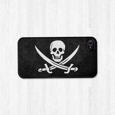 iPhone 4 Case, iPhone 5 Case, Jolly Roger Vintage Pirate Flag Skull Men, iPhone Case, Phone Case, iPhone Cover (069). $17.00, via Etsy.