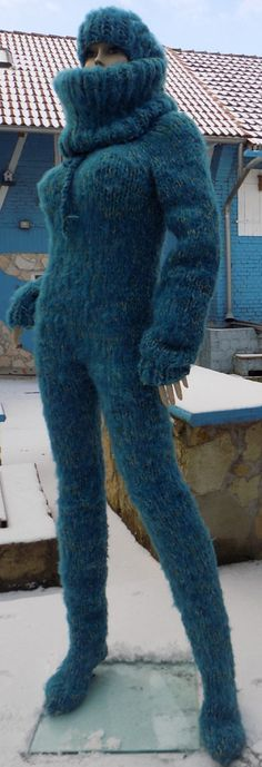 Mohair Yarn, Mohair Sweater, Catsuit, Knitwear Fashion, Balaclava, Upper Body, Leg Warmers, Hand Knitting, Overalls
