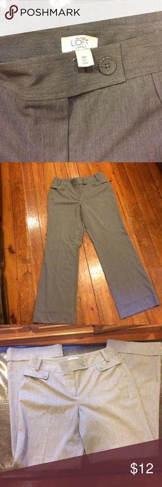 Ann Taylor petites 10p grey dress pants Ann Taylor petites grey 10p dress pants soft & classy smoke free home dog mom Ann Taylor Pants