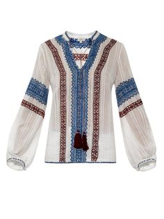 Talitha Kali embroidered cotton top