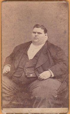 David Navarro Rochelle Illinois Giant Boy Fat Man Circus Sideshow Freak CDV