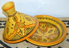 This authentic hand painted serving tagine perfect for serving hot food to add beauty to your dinning table. This tagine cannot handle heat from the oven neither the stove. .