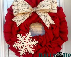THE ORIGINAL Snowman Wreath Christmas Holiday por ChatsworthRanchCo