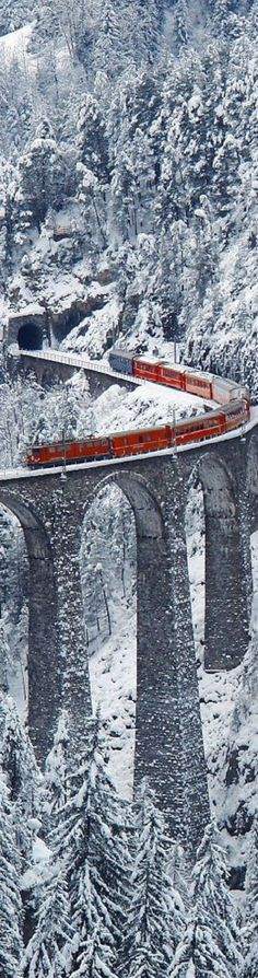 Landwasser Viaduct, Graubunden, Switzerland