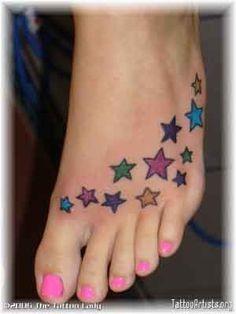 Stars Tattoo...maybe wrist or behind the ear