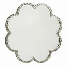 Scalloped Flower Shape Mirror On The Wall Mirrors Elegant Home