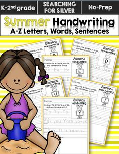 I can write letters, words, and sentences with...Aa! FUN summer handwriting practice for all letters of the alphabet. No learning loss here!!