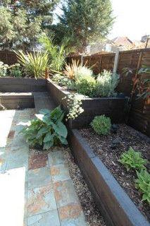 a backyard idea: raised bed/seat