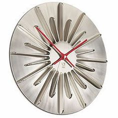 'radiant wall clock' in nickle designed by matt carr for umbra