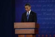 46 10/3/12 President Barack Obama listens during the presidential debate Wednesday, October 3, 2012 at the University of Denver. Craig F Walker, The Denver Post