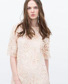 Lace Dress from Zara Lace Midi Dress, Belted Dress, Dress Skirt, Latest Fashion For Women, Womens Fashion, Online Zara, Summer Dresses For Women, Zara Women, Fashion Brand