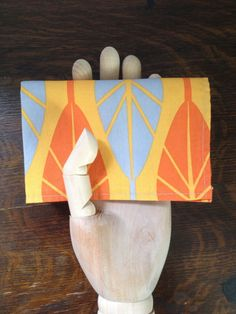 Orange Feather Pocket Square – wrenbirdarts