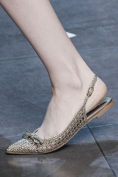 Shoe detail at Dolce Gabbana | Spring 2014