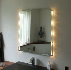 Køkkentilbehør - Spejl med indbygget lys, bue B60 x H88 cm.