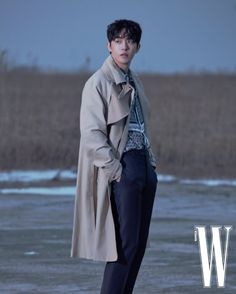 '미스터 디올' 남주혁의 비하인드 컷 | 더블유 코리아 (W Korea) Park Bogum, Kim Jisoo, Joo Hyuk, Jong Suk, Korean Actors, Raincoat, Jackets, February, Instagram