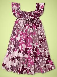 printed ruffle dress babygap
