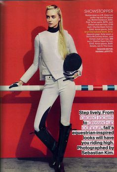 Ariat boots in September issue of Teen Vogue