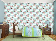 Flamingo Wallpaper Girls Room Self-Adhesive Nursery Wall Decor Peel&Stick #Unbranded #ArtDecoStyle