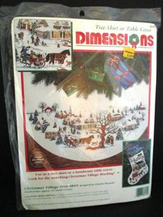 Dimensions Christmas Village Tree Skirt Counted Cross Stitch Kit Charles Wysocki #Dimensions