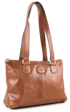 Brics Life Pelle Handtasche Leder ocker 31 cm - Designer Taschen Shop - wardow.com