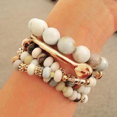 Semi Precious Wrap Bracelet by DecidedlySoDesigns on Etsy