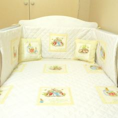 Yellow Beatrix Potter Baby Bedding