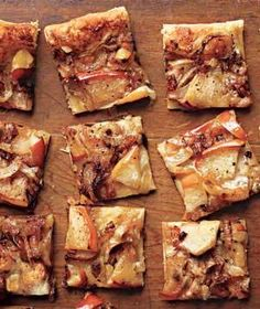 Sweet meets savory in the mixture of onions and apples that tops crème fraîche and puff pastry. | From appetizers to desserts, recipes as special as the holiday itself.