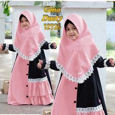 Little Girl Fashion, Kids Fashion, Fashion Outfits, Abaya Fashion, Muslim Fashion, Modest Dresses, Girls Dresses, Dress Anak, Girl Hijab