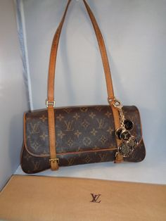 bf58a04494b1 AUTHENTIC Pre-Owned LOUIS VUITTON Monogram Marelle MM Shoulder Bag Pre  Owned Louis Vuitton