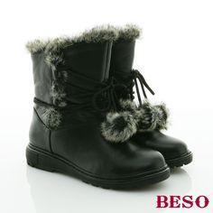 https://tw.buy.yahoo.com/gdsale/BESO-秋冬氛圍-真皮滾毛邊交叉綁帶愛斯基摩短靴-個性黑-3976947.html