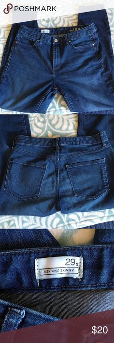 Gap 1969 high rise skinny jeans - 29/8 short These jeans are in great condition. They are short, high rise, and skinny! GAP Jeans Skinny