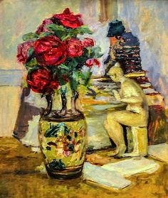 Edouard Vuillard - Flowers with Leda, 1900 CORRIENTE ARTISTICA NABIS