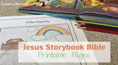 Get your free, 44 page printable to accompany The Jesus Storybook Bible, featuring chapter titles, Bible verses, and a place for your children to illustrate the story themselves. Toddler Bible Lessons, Bible Verses For Kids, Bible Study For Kids, Kids Bible, Preschool Bible, Bible Activities, Preschool Crafts, Learning Activities, Bible Story Book